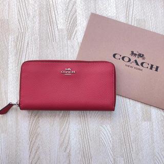 コーチ(COACH)の新品 COACH 長財布 レッド(財布)