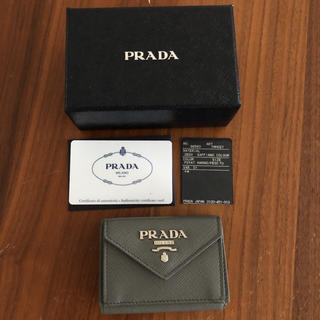 プラダ(PRADA)の美品 PRADA 折りたたみ財布(財布)