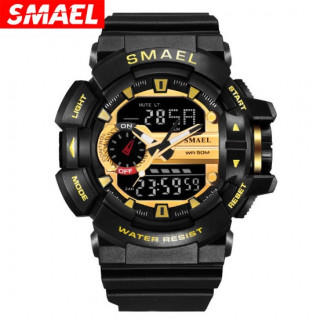 新品☆送料無料 腕時計デジタル多機能メンズLEDブラック×ゴールド(腕時計(アナログ))