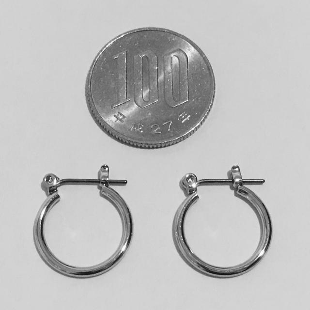 シルバーフープピアス 両耳ペア メンズのアクセサリー(ピアス(両耳用))の商品写真
