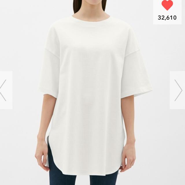 GU(ジーユー)のGU ヘビーウェイトオーバーサイズT 新品 レディースのトップス(Tシャツ(半袖/袖なし))の商品写真