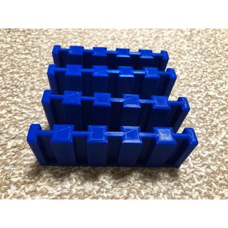 【自作】カプセルプラレール対応 レールお片付けブロック 50個収納(鉄道模型)
