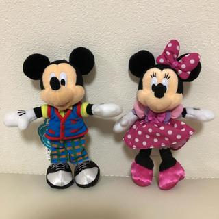 ディズニー(Disney)の【新品.タグ付き】♡ディズニー♡34周年ミッキー&ミニーぬいぐるみバッチ♡(ぬいぐるみ)