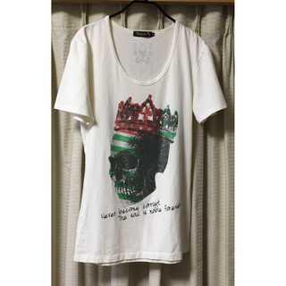 ディアブロ(Diavlo)のdiavlo キラキラ シャツ 46 白 ドクロ ディアブロ スカル(Tシャツ/カットソー(半袖/袖なし))