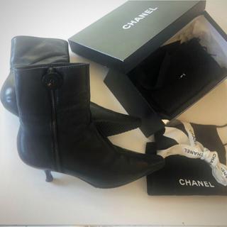 シャネル(CHANEL)のCHANELシャネルビンテージ皮ブーツ (ブーツ)