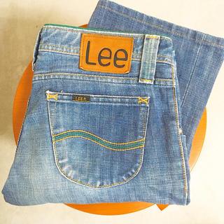 リー(Lee)のLee レディース  デニム ジーンズ 77102 緑 グリーン ステッチ(デニム/ジーンズ)