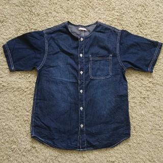 ジーユー(GU)の丸首半袖シャツ 150センチ GU(Tシャツ/カットソー)