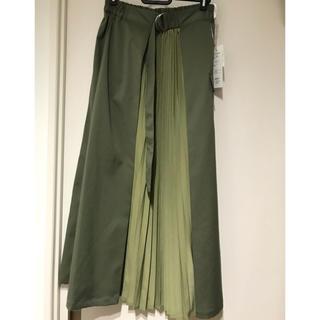 シマムラ(しまむら)のしまむら♡フロントのプリーツ切替スカート(ロングスカート)