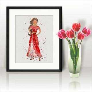 ディズニー(Disney)のエレナ(アバローのプリンセス・ディズニーチャンネル)アートポスター【額縁つき】(ポスター)