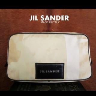 ジルサンダー(Jil Sander)のイタリー製 ジル サンダー サンドカモ ポーチ クラッチ セカンド バッグ(セカンドバッグ/クラッチバッグ)