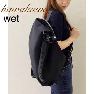イアパピヨネ(ear PAPILLONNER)の極美品♡価格3.8万♡kawakawa カワカワ♡デカファスナー リュック♡黒(リュック/バックパック)