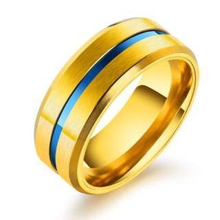 指輪 リング メンズ ステンレス チタン シンプル 平打ち ブランド (リング(指輪))