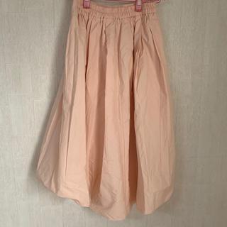ジーユー(GU)のサーモンピンクスカート(ロングスカート)