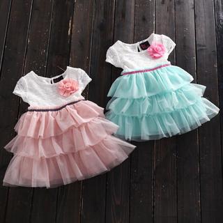 ベビードレス ワンピース 70 ピンク(ワンピース)