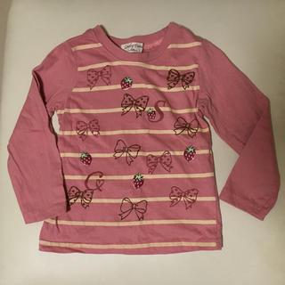 シマムラ(しまむら)のいちご柄ロンT 100(Tシャツ/カットソー)