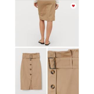 ザラ(ZARA)のH&M  新品未使用 ベルテッドスカート  (ひざ丈スカート)