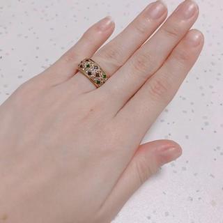 k18 マルチカラーリング(リング(指輪))