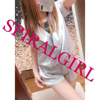 スパイラルガール(SPIRAL GIRL)の449.SPIRALGIRL オールインワン シルバー(オールインワン)