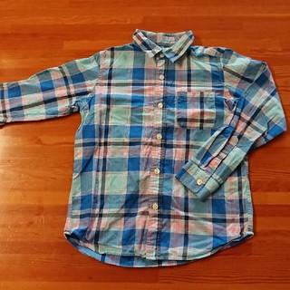 ジーユー(GU)の140 GU チェックシャツ(Tシャツ/カットソー)