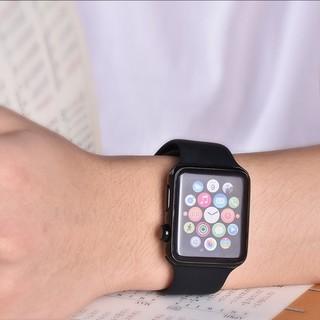 新品・送料無料・高品質 Applewatch用バンド ブラック40,38 S/M(ラバーベルト)