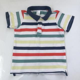 エイチアンドエム(H&M)のH&M ボーダーポロシャツ 90サイズ(Tシャツ/カットソー)