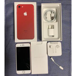 エヌティティドコモ(NTTdocomo)のiPhone7 128GB RED docomo(スマートフォン本体)