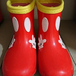 ディズニー(Disney)のミッキー 長靴 15.0 傷あり(長靴/レインシューズ)