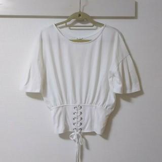 シマムラ(しまむら)の【未使用】コルセットTシャツ(Tシャツ(半袖/袖なし))