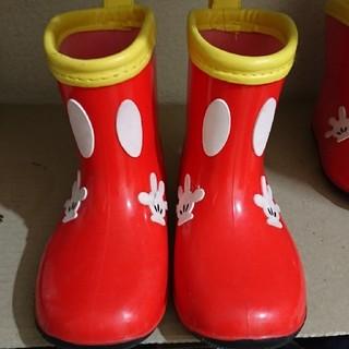 ディズニー(Disney)のミッキー 長靴 16.0(長靴/レインシューズ)