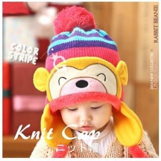 子供の帽子 冬の赤ちゃん耳たぶの帽子 かわいい  (帽子)