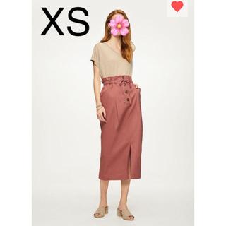 ジーユー(GU)のGU 新品 ペーパーバックミディスカート XS(ひざ丈スカート)
