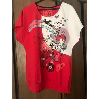 スカラー(ScoLar)のスカラープルオーバー  レッド(Tシャツ(半袖/袖なし))