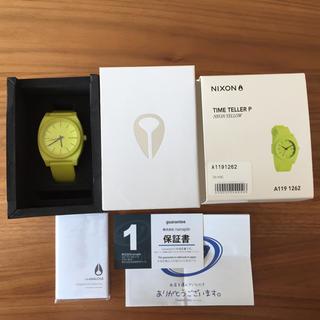ニクソン(NIXON)のNixon ネオンイエロー 腕時計 タイムテラー(腕時計(アナログ))