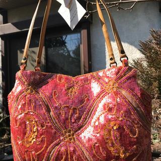 ジャマンピュエッシュ(JAMIN PUECH)の新品まるJamin puech●スパンコール刺繍のパーティバッグ(ハンドバッグ)