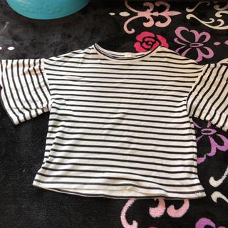 ジーユー(GU)のボーダーTシャツ(Tシャツ(半袖/袖なし))