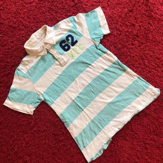 エイチアンドエム(H&M)の#H&M#キッズ#ボーイズ#ポロシャツ#ストライプ#160cm#爽やかエメラルド(その他)