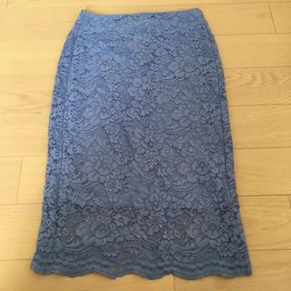 ジーユー(GU)のGU♡タイトレーススカート♡Sサイズ(ひざ丈スカート)