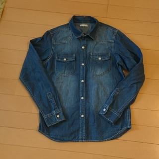 ジーユー(GU)のデニムシャツ 150センチ GU(Tシャツ/カットソー)