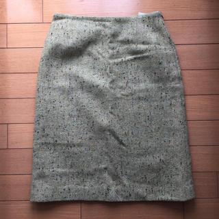 スーナウーナ(SunaUna)のLui chantant タイトスカート 36 グリーン ツイード(ひざ丈スカート)