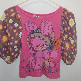 バナバナ(VANA VANA)のバナバナ 120㎝ Tシャツ バルーン袖 アニマル 昭和レトロ(Tシャツ/カットソー)