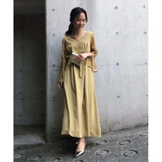アメリヴィンテージ(Ameri VINTAGE)のAMERI LACE SLEEVE REFINED DRESS (ロングワンピース/マキシワンピース)