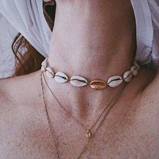 シールームリン(SeaRoomlynn)の新作 カウリーシェルネックレス 貝殻 モチーフ ネックレス ゴールド(ネックレス)