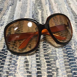 美品♡ヴィンテージ サングラス 眼鏡 メガネ オレンジ 茶色 (サングラス/メガネ)