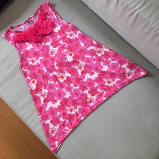 ザラ(ZARA)の#ノースリーブ#チュニック#ZARA#ガールズ#キッズ#140cm#濃いめピンク(Tシャツ/カットソー)
