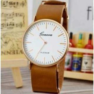 【明るいブラウン】カジュアル腕時計 メンズ レディース アナログ 石原さとみ(腕時計)