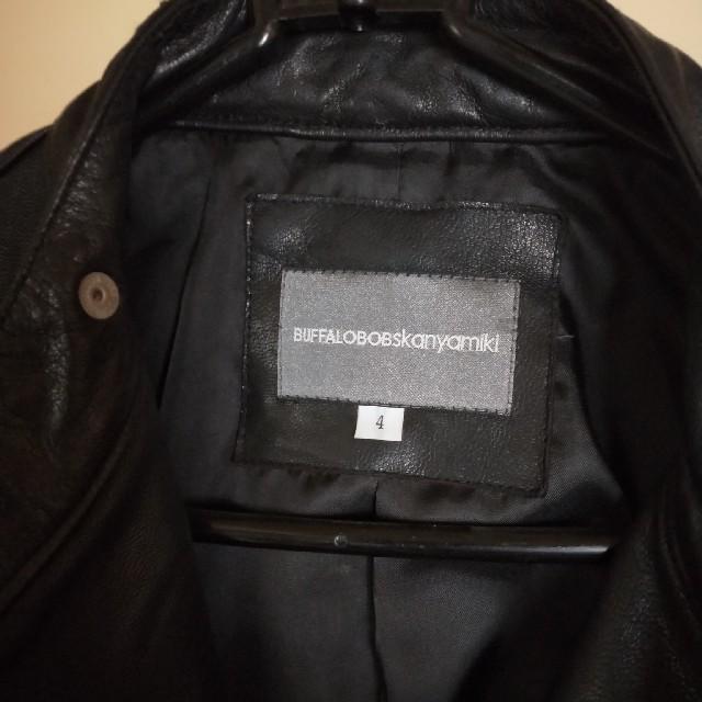 BUFFALO BOBS(バッファローボブス)のバッファローボブス カンヤミキ ゴートレザーダブルライダースジャケット メンズのジャケット/アウター(レザージャケット)の商品写真