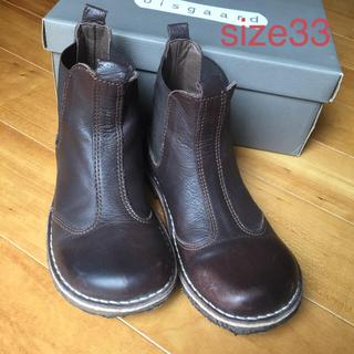 bisgaard サイドゴア  ブーツ ブラウン サイズ33(ブーツ)