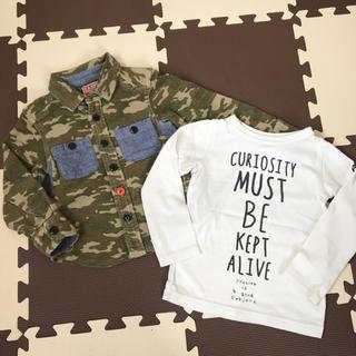 エフオーキッズ(F.O.KIDS)の迷彩シャツ & ロンTセット (Tシャツ/カットソー)