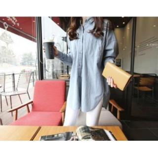 流行りのビッグシルエット バックスタイルが特徴的! シンプル シャツ(シャツ/ブラウス(長袖/七分))