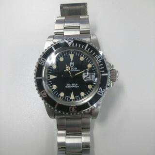 チュードル(Tudor)のチュードル サブマリーナ ブラック 盾マーク 自動巻 (腕時計(アナログ))